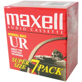 Maxell Normal Bias Cassette Tapes 7 pk Portables & Dictation Equipment - Audiovideodirect