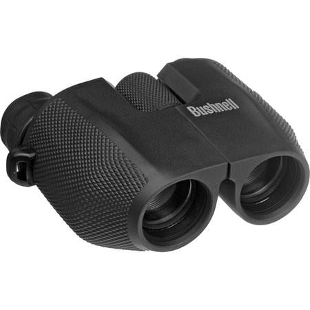 New Bushnell Powerview Compact 8x25 Porro Prism Rubber Binoculars - Black, 6.5 Degre 139825 - Audiovideodirect