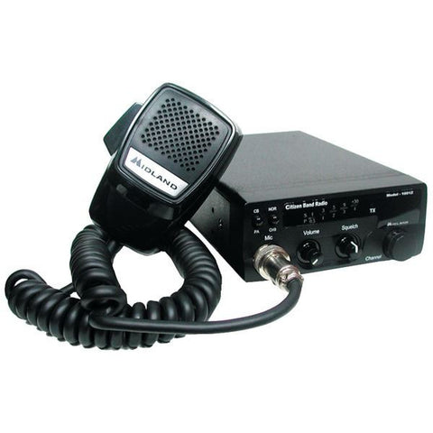 Midland 1001Z 40-Channel 4 Watt with LED Display Black PA speaker CB Radio - Audiovideodirect