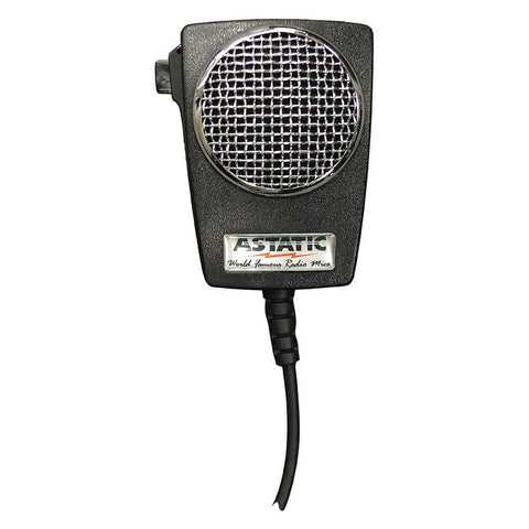 Astatic 302-10005 D104M6B Amplified Ceramic Power 4-Pin Black CB Microphone - Audiovideodirect