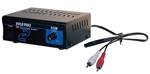 Pyle Home PCA1 30-Watt Stereo Mini Power Amplifier with Master Volume Control - Audiovideodirect