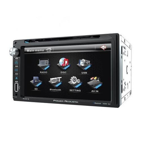"Power Acoustik PD651B 6.5"" LCD touchscreen MP3 ID3 Tag Reading DVD Receiver - Audiovideodirect"