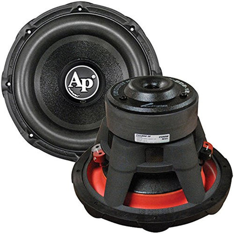 "Audiopipe 12"" Woofer 1500W Max Dual 4 Ohm Powder Black Car DVC Subwoofers - Audiovideodirect"