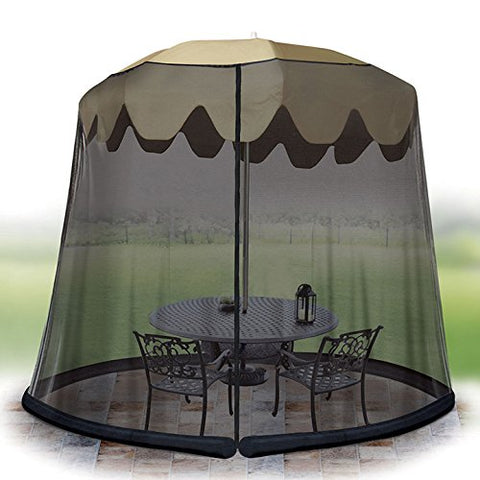 Ideaworks - Jobar JB6614 Outdoor Umbrella Table Screen 11 ft- Black - Audiovideodirect
