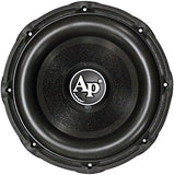 Audiopipe TXXBD312 1800 Watt Powered Black Paint Aluminum Basket Car Subwoofer - Audiovideodirect