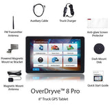 "Rand McNally OverDryve 8Pro 8"" Truck GPS Tablet with Dash Cam and Bluetooth - Audiovideodirect"