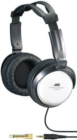 JVC HARX300 Full Size Adjustable Headphones, Black - Audiovideodirect