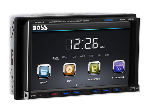 Boss Audio BV9757B 7 inch Wireless Remote Touchscreen DVD Player Receiver - Audiovideodirect