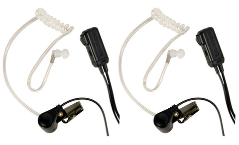 Midland Transparent Security Headsets with PTT/VOX - Pair - Audiovideodirect