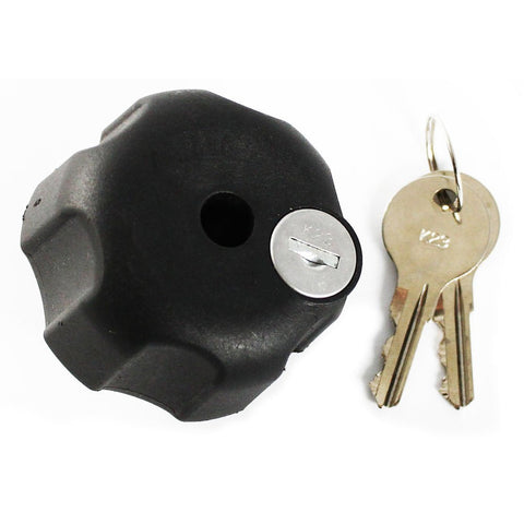 Ram Mount Locking Knob with 1/4-Inch-20 Brass Hole for B Size Arms (Black) - Audiovideodirect