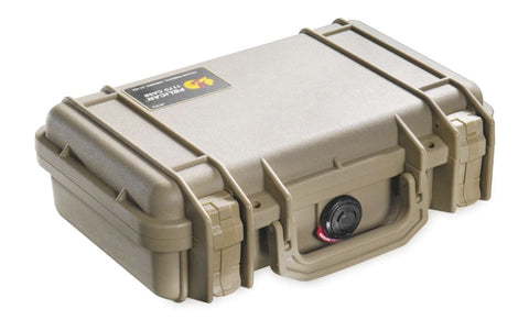 Pelican Products 1170TAN Watertight, Crushproof & Dustproof Small Case with Foam - Audiovideodirect