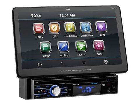 "Boss Audio BVS101B 10.1"" Detachable Touchscreen RDS Tuner DVD Player Receiver - Audiovideodirect"