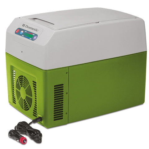 Dometic TC Portable Thermo Electric Cooler/Warmer, Gray/Green - Audiovideodirect