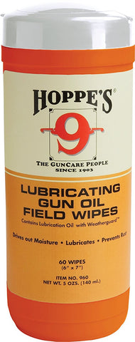 Hoppe's No.9GO Large Lubricating Gun Oil Field Wipes - Audiovideodirect