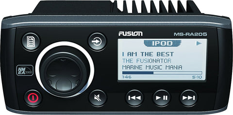 Fusion AM/FM/AUX/USB/Weather Band and VHF Receiver MSRA205 - Audiovideodirect