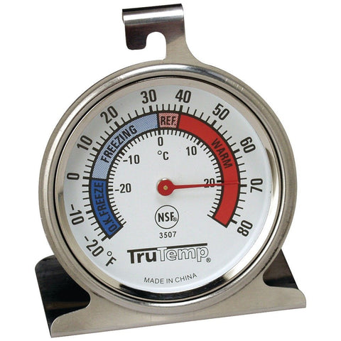 Taylor Precision Products 3507 TruTemp Freezer/Refrigerator Thermometer, Stainless Steel - Audiovideodirect