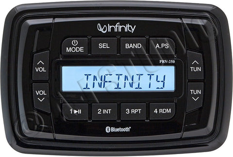 Infinity INFPRV250 AM/FM/USB Bluetooth Marine Digital Multimedia Stereo - Audiovideodirect