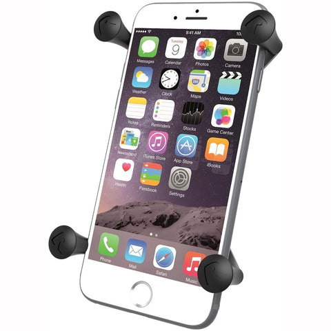 Ram Mount Universal X-Grip IV Large Phone/Phablet Holder with 1-Inch Ball - Non-Retail Packaging - Black - Audiovideodirect