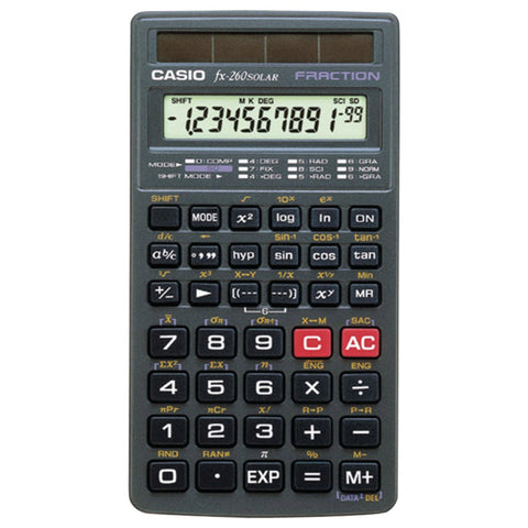 Casio fx-260 SOLAR Scientific Calculator - Audiovideodirect