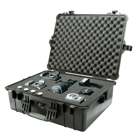 Pelican Black Stainless Steel Reinforced Padlock Protectors Case with Foam - Audiovideodirect