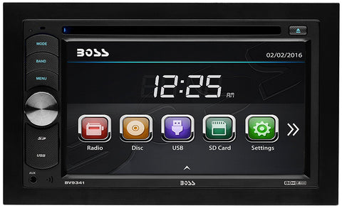 "Boss Audio Systems BV9341 DVD/CD/MP3 AM/FM Receiver with Double Din 6.2"" Screen - Audiovideodirect"