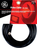 GE 23210 Video Cable 25-Ft RG59 Coax with F Plugs Each End, Black - Audiovideodirect
