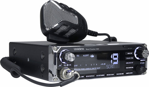 Uniden BearTracker 885 Hybrid CB Radio & Digital Scanner with BearTracker Warning System - Audiovideodirect