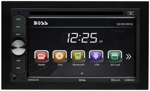 "Boss Audio 6.2"" Double-DIN In-Dash USB & SD Card DVD/MP3/CD & AM/FM Receiver - Audiovideodirect"