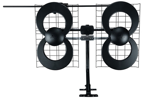 ClearStream 4V Indoor/Outdoor HDTV Antenna with Mount - 70 Mile Range - Audiovideodirect