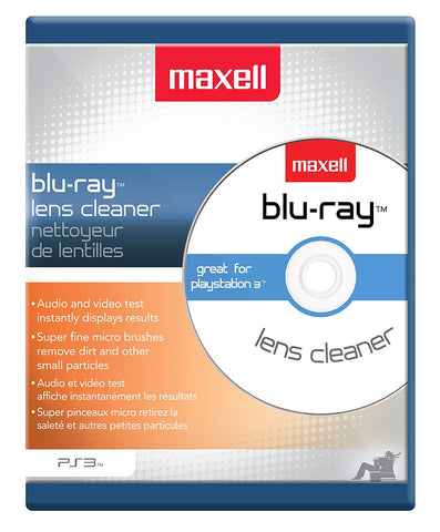 Maxell BR-LC Blu-ray Lens Automatic Cleaner Designed for PS3 Disc Players - Audiovideodirect