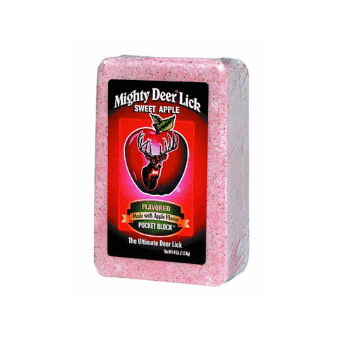Mighty Deer Lick 4 lb. Sweet Pure Fresh Apple Block - Audiovideodirect