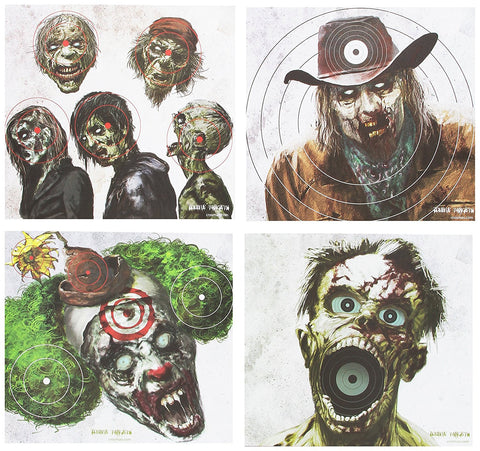 Crosman CPVT5 Zombie Target Set of 20 Random Zombie-Themed - Audiovideodirect