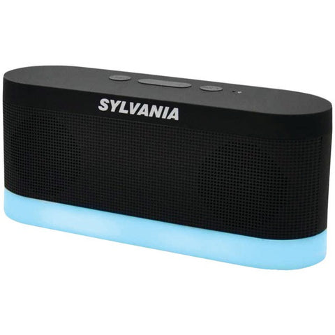 SYLVANIA SP136-BLACK 700mAh Bluetooth® Moonlight 3.5 mm AUX 3W Speaker -Black - Audiovideodirect