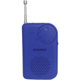 SYLVANIA SRC100-BLUE Portable AM/FM Radio with Belt clip -Blue
