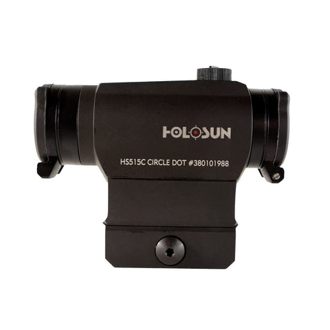 HOLOSUN HS515C Paralow Compact Solar Power 2MOA Dot & 65 MOA Circle Sight - Audiovideodirect