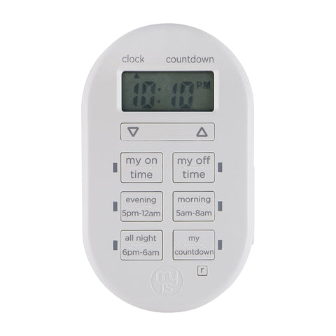 Jasco myTouchSmart Indoor Plug-In Digital Timer JAS26892 - Audiovideodirect