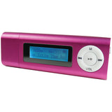 SYLVANIA 4GB Video MP3 Player Voice Recorder up to 30 hours with Display, 2.0 USB, 3.5mm headphone output, Rechargeable battery-Pink - Audiovideodirect