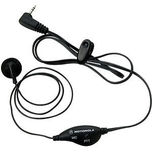 Earbud with PTT Microphone for Talkabout(R) 2-Way Radios - Audiovideodirect