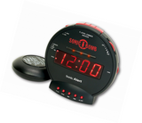 Sonic Alert Sonic Bomb Loud Dual Alarm Clock with Bed Shaker SBB500SS - Audiovideodirect