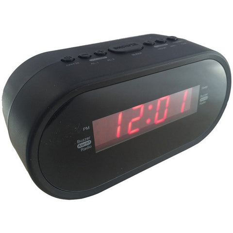 "SYLVANIA SCR1221 0.6"" LED Display Digital Alarm Clock Radio with AC Adapter -New - Audiovideodirect"