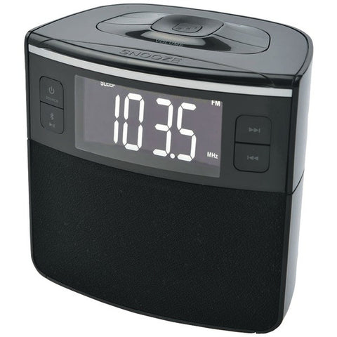 SYLVANIA Bluetooth Clock Radio with Auto-Set Dual Alarm Clock & USB Charging-New - Audiovideodirect