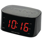 "Sylvania SCR3130BT 1.2"" Bluetooth® Dual Alarm Clock Radio with LED Clock - Audiovideodirect"