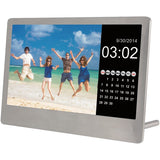 "SYLVANIA SDPF7977 800 x 480 resolution 7"" Stainless Steel Digital Photo Frame - Audiovideodirect"
