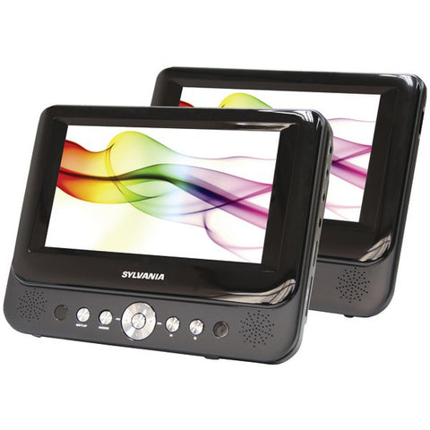 "Sylvania SDVD8737A Two 7"" 16:9 TFT Displays Dual-Screen Portable DVD Player -New - Audiovideodirect"