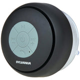 SYLVANIA SP230-BLACK Water-resistant Bluetooth Suction Cup Shower Speaker-Black
