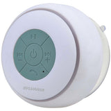 SYLVANIA SP230-WHITE Water-resistant Bluetooth Suction Cup Shower Speaker-White