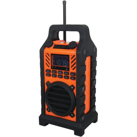 Sylvania SP303 ORANGE Bluetooth® Outdoor Water-Resistant Speaker - Audiovideodirect