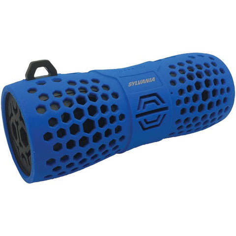 SYLVANIA SP332 Water-Resistant Portable Bluetooth Speaker with Portable Hook