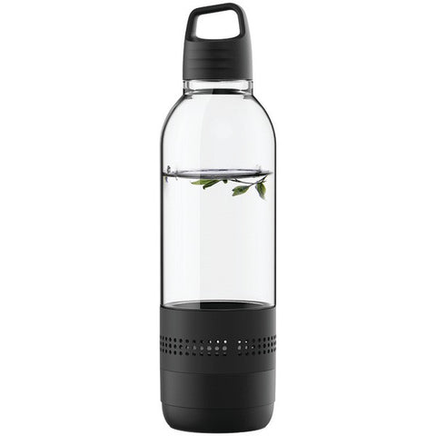 SYLVANIA SP650-BLACK Water Bottle with Integrated Bluetooth® Speaker -Black - Audiovideodirect