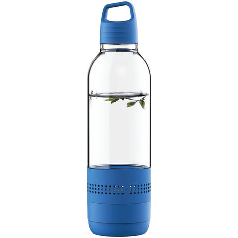 SYLVANIA SP650-BLUE Water Bottle with Integrated Bluetooth® Speaker -Blue - Audiovideodirect